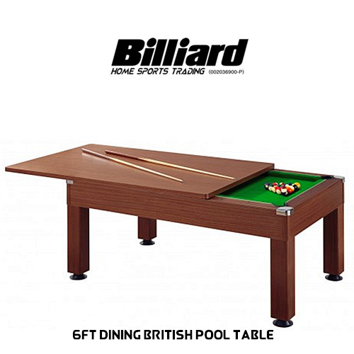 6ft Dining British Pool Table Billiard